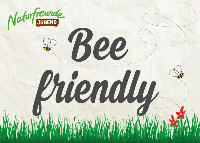 "Postkarte ""Bee friendly"""
